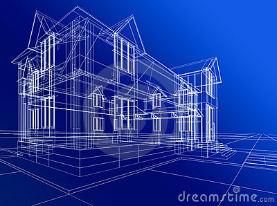 abstract house construction