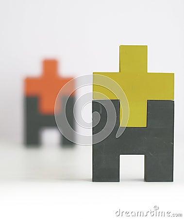 Abstract human body shapes