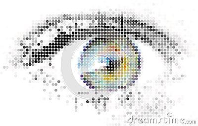 Abstract human - digital - eye