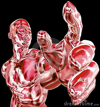 Abstract human muscles