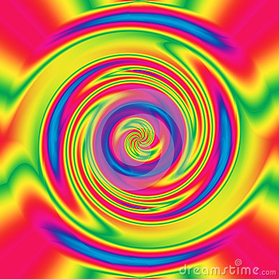 Abstract hypnotizing twirl