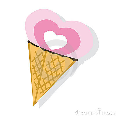 Abstract ice-cream on white background