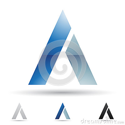 Abstract icon for letter A