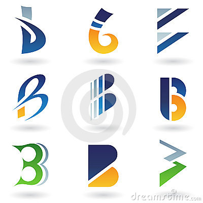 Abstract icons resembling letter B
