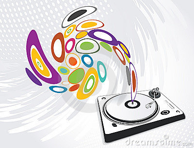 Abstract illustration of a dj-mixer, vector