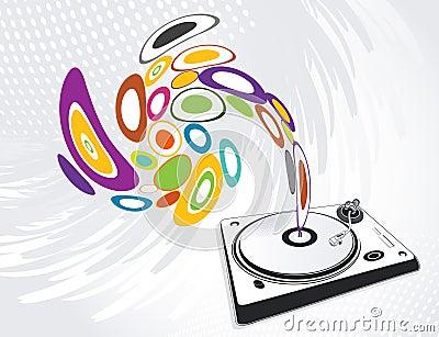 Abstract illustration of a dj-mixer, vector
