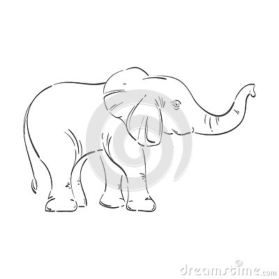 Abstract illustration of an elephant. Vector Illustration