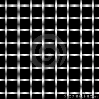 Abstract illustration of metal grid wall pattern