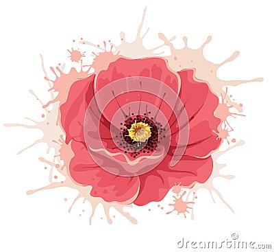 Abstract illustration poppy flower cartoon vector cartoondealer abstract illustration poppy flower cartoon vector mightylinksfo