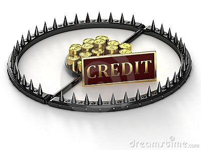 An abstract image of credit slavery.