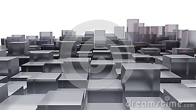 Abstract image of glass cubes