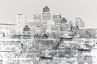 Abstract image of modern city life