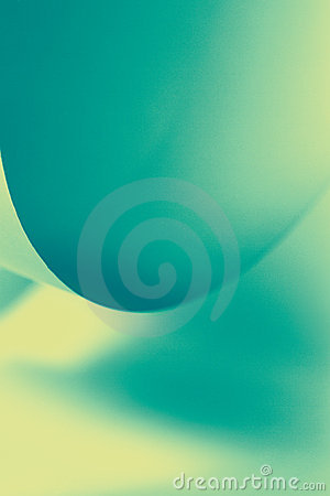 Abstract image paper shapes green blue