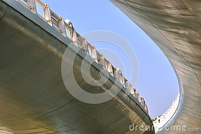 Abstract image of viaduct bridge
