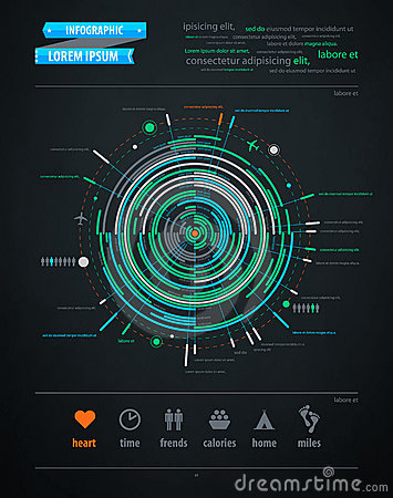 Abstract infographics element on transportation