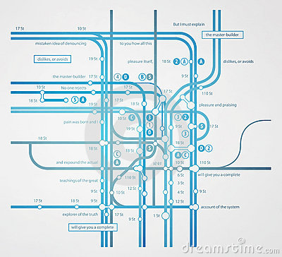 Abstract infographics subway transportation
