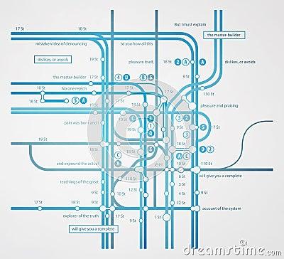 Abstract infographics subway transportation