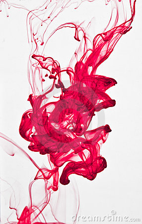 Abstract ink in water