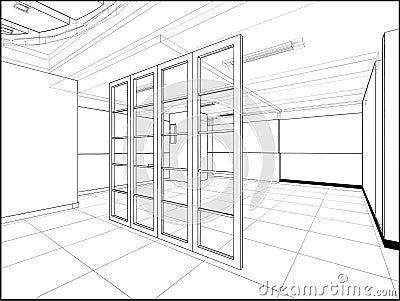 Abstract Interior Construction Vector 221