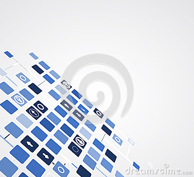 Abstract internet computer technology business solution