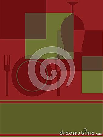 Abstract Invitation or Menu design