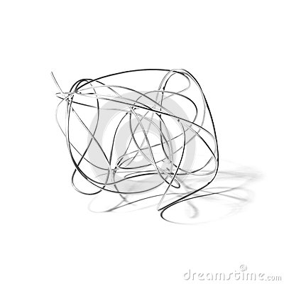 Abstract iron wire