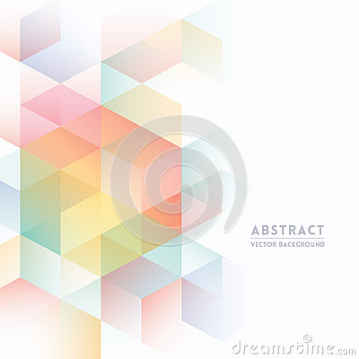 Free Abstract Isometric Shape Background Royalty Free Stock Images - 38507519