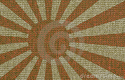 Abstract Japanse Flag