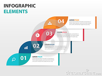 Abstract label business timeline Infographics elements, presentation template flat design vector illustration for web design Vector Illustration