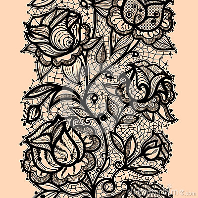 Lace Drawing Pattern Abstract Ribbon Roze Stock Images Image