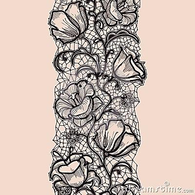 Lace Sketch Abstract Ribbon Royalty Free Stock Photo Image