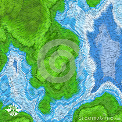 Abstract Landscape Background. Mosaic. 3d Vector Illustration Vector Illustration
