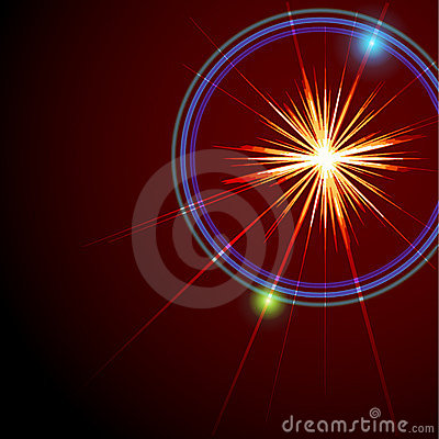 An abstract lens flare. Vector illustration.