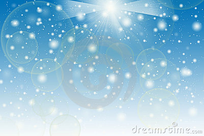 Abstract light background on blue