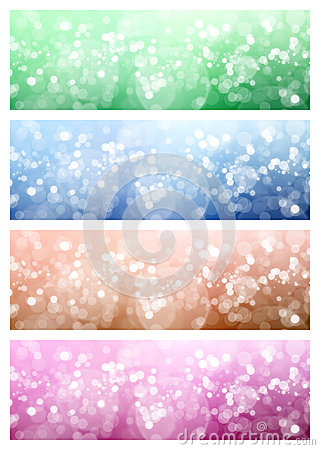 Abstract light background with bokeh