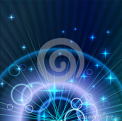 Abstract light Background with circles