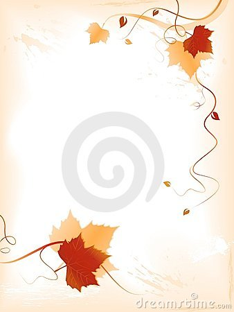 Abstract light background with red golden foliage