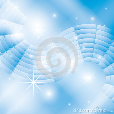 Abstract light blue background with stars -eps