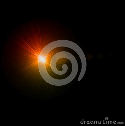 Abstract light flare effect. Vector