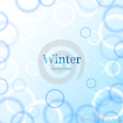 Abstract light winter background