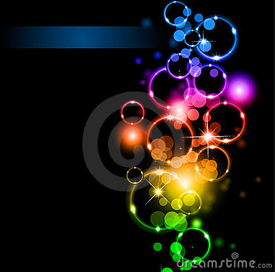 Free Abstract LIghts And Sparkles With Rainbow Colours Royalty Free Stock Image - 16761956