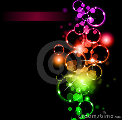 Abstract LIghts and Sparkles with Rainbow Colours