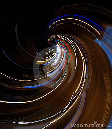 Abstract lights and speed composition