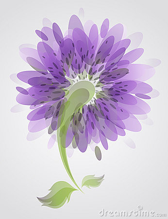Abstract lilac flower.