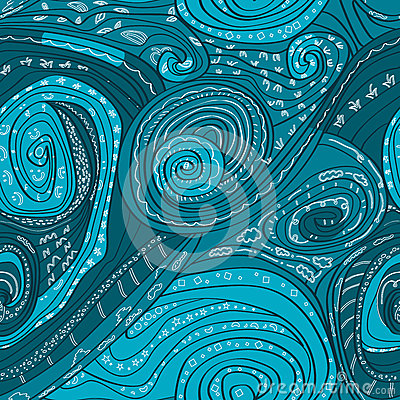 Abstract Lines drawn seamless pattern_eps