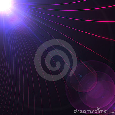 Abstract Lines and Light Flare