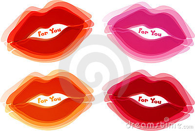 Abstract lips background