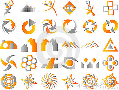 Abstract Logo Icon Design Elements