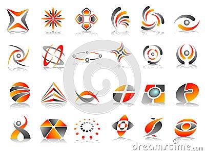 Abstract Logo Icon Design Set