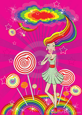 Abstract lollipop girl